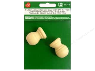 Lara's Wood Acorn Dowel Cap 3/8 in. Hole 2 pc.