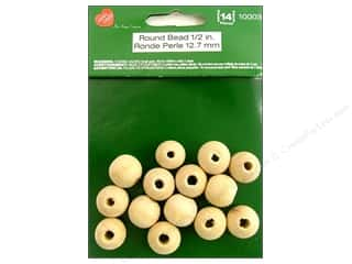 wood beads: Lara's Wood Round Bead 1/2 in. 14 pc.