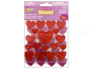 Love & Romance Craft & Hobbies: Darice Foamies Sticker Dot/Hearts Glitter