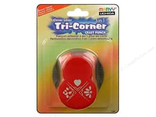 Clearance Uchida Tri-Corner 3 in 1 Punch: Uchida Punch Clever Lever Tri-Corner 3 in 1 Love