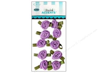 Ribbon Work Offray Ribbon Accent: Offray Ribbon Accent Roses Small 10pc Light Orchid