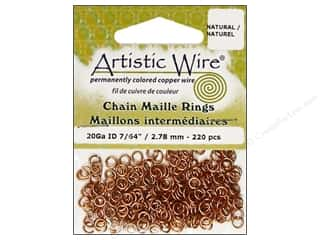 Jump Rings / Spring Rings: Artistic Wire Jump Rings 20 ga. 7/64 in. Natural 220 pc.