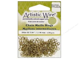 Jump Rings / Spring Rings: Artistic Wire Jump Rings 20 ga. 7/64 in. Brass 170 pc.