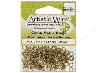 Jump Rings / Spring Rings: Artistic Wire Jump Rings 20 ga. 9/64 in. Brass 140 pc.