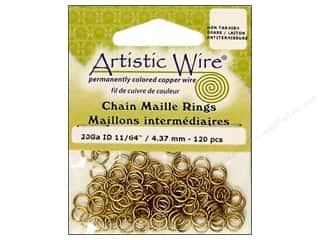 Artistic Wire Jump Rings 20 ga. 11/64 in. Brass 120 pc.