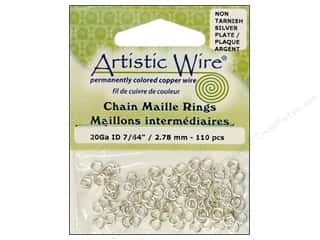 Artistic Wire Jewelry Making: Artistic Wire Chain Maille Jump Rings 20 ga. 7/64 in. Silver 110 pc.