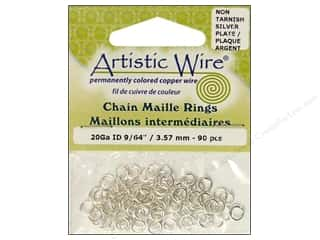 Artistic Wire Jump Rings 20 ga. 9/64 in. Silver 90 pc.