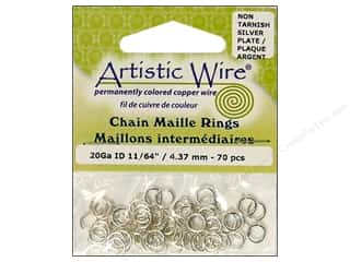 Clearance Blumenthal Favorite Findings: Artistic Wire Jump Rings 20 ga. 11/64 in. Silver 70 pc.