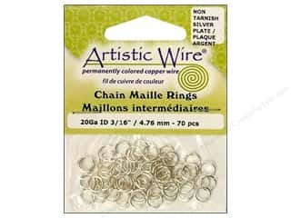 Findings Artistic Wire Jump Rings: Artistic Wire Chain Maille Jump Rings 20 ga. 3/16 in. Silver 70 pc.