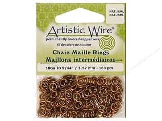 jump rings: Artistic Wire Jump Rings 18 ga. 9/64 in. Natural 160 pc.