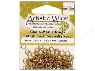Clearance Blumenthal Favorite Findings Jump Rings / Spring Rings: Artistic Wire Chain Maille Jump Rings 18 ga. 5/32 in. Natural 100 pc.