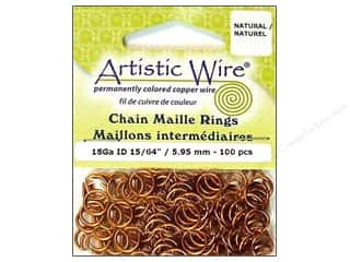 Jump Rings / Spring Rings: Artistic Wire Jump Rings 18 ga. 15/64 in. Natural 100 pc.