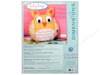 felting kits: Dimensions Applique Kit Felt Happi Owl Pillow