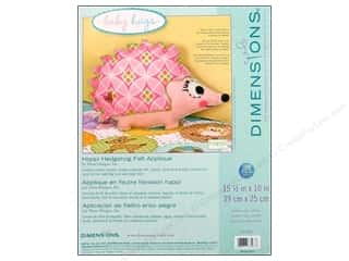 felting kits: Dimensions Applique Kit Felt Happi Hedgehog Pillw