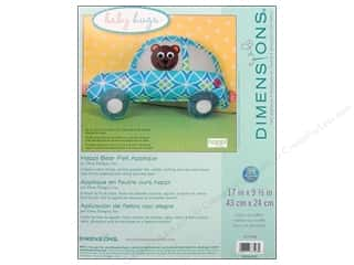 Teddy Bears Tobin Kit Embroidery: Dimensions Applique Kit Felt Happi Bear Pillow