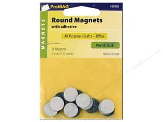 "Magnets 12"": ProMag Magnet 1/2"" Round Adhesive 16pc"