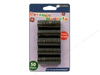 "Craft & Hobbies Basic Components: ProMag Magnet Ceramic 3/4"" 50pc"