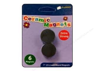 "ProMag Magnet Ceramic 1"" 6pc"