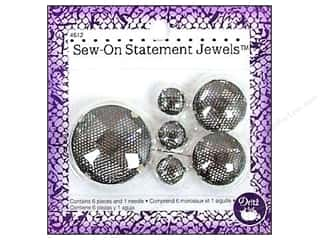 Dritz Sew On Statement Jewels Clear 6pc