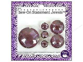 Trims $20 - $30: Sew On Statement Jewels by Dritz Pink 6pc