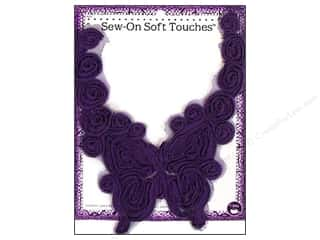 Dritz Sew On Soft Touches Butterfly Purple