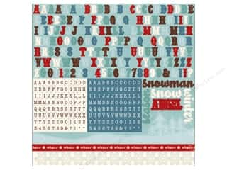 "alphabet stickers: Echo Park Sticker 12""x 12"" Wintertime Alphabet (15 sheets)"