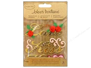 Valentine's Day Rhinestones: Jolee's Boutique Stickers Parcel Flourish Valentine Words