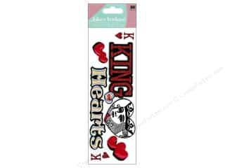 Valentine's Day Gifts EK Jolee's Boutique: Jolee's Boutique Title Stickers King Of Hearts