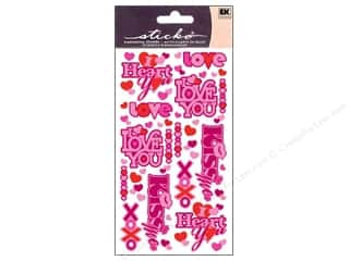 EK Sticko Stickers Valentine Phrases