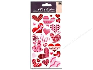 EK Sticko Stickers Funky Hearts