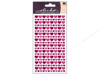 Decoart Valentine's Day Gifts: EK Sticko Stickers Glitter Hearts