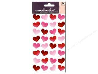 Valentine's Day Burgundy: EK Sticko Stickers Red Bubble Hearts