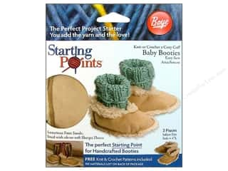 Boye Blank Boye Blank Baby Booties 2pc