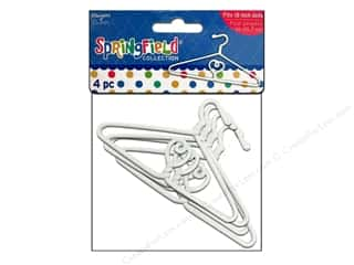 Fibre-Craft Springfield 18&quot; Doll Hangers Wht 4pc