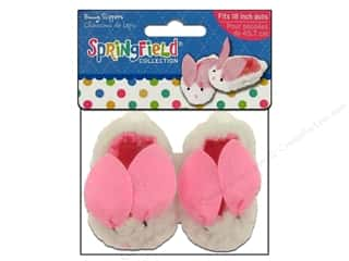 "Dolls and Doll Making Supplies: Fibre-Craft Doll Clothes Springfield 18"" Doll Bunny Slippers"