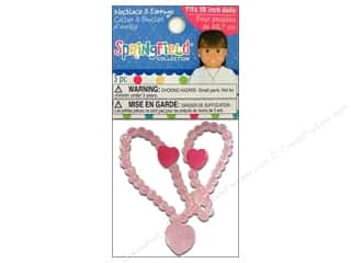 "Fibre-Craft Springfield 18"" Doll Necklace&Earring"