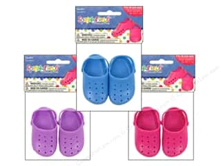 "Summer Fun: Fibre-Craft Springfield 18"" Doll Shoes SummerAstd"