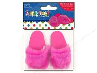 "Dolls and Doll Making Supplies: Fibre-Craft Doll Clothes Springfield 18"" Doll Slippers Pink"
