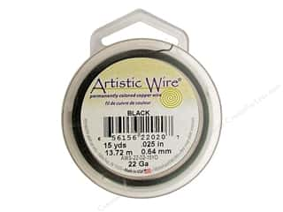 Artistic Wire Black: Artistic Wire 22 ga. Copper Wire 15 yd. Black
