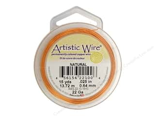 Artistic Wire 22 ga. Copper Wire 15 yd. Natural