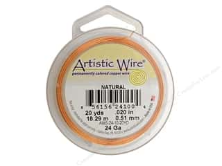 Artistic Wire 24Ga Copper Natural 20yd