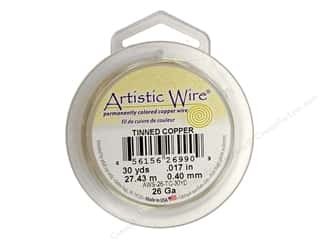 26 ga wire: Artistic Wire 26Ga Tinned Copper 30yd
