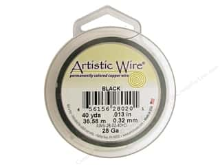 Artistic Wire Black: Artistic Wire 28 ga. Copper Wire 40 yd. Black