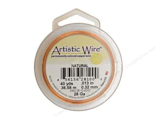 Artistic Wire 28 ga. Copper Wire 40 yd. Natural