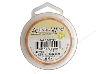 Artistic Wire 28Ga Bare Copper 40yd