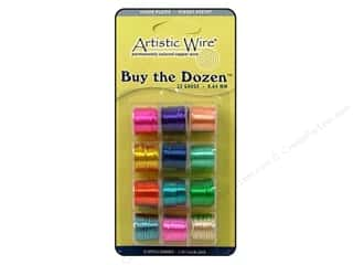 Artistic Wire Wirework: Artistic Wire 22 ga. Copper Wire 5 yd. Assorted Colors Dozen