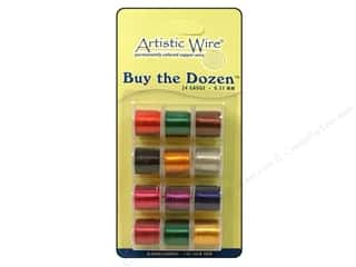 silver jewelry wire: Artistic Wire 24 ga. Copper Wire 5 yd. Assorted Dozen