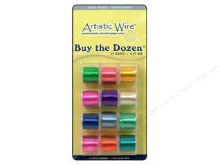 Artistic Wire $5 - $6: Artistic Wire 24 ga. Copper Wire 5 yd. Assorted Colors Silver Plated Dozen