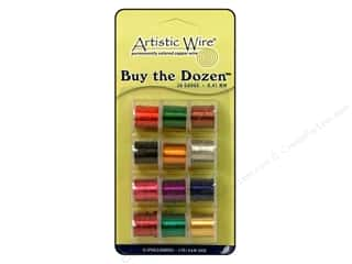 Artistic Wire $5 - $26: Artistic Wire 26 ga. Copper Wire 5 yd. Assorted Colors Dozen