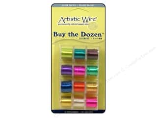 silver jewelry wire: Artistic Wire 26 ga. Copper Wire 5 yd. Assorted Dozen